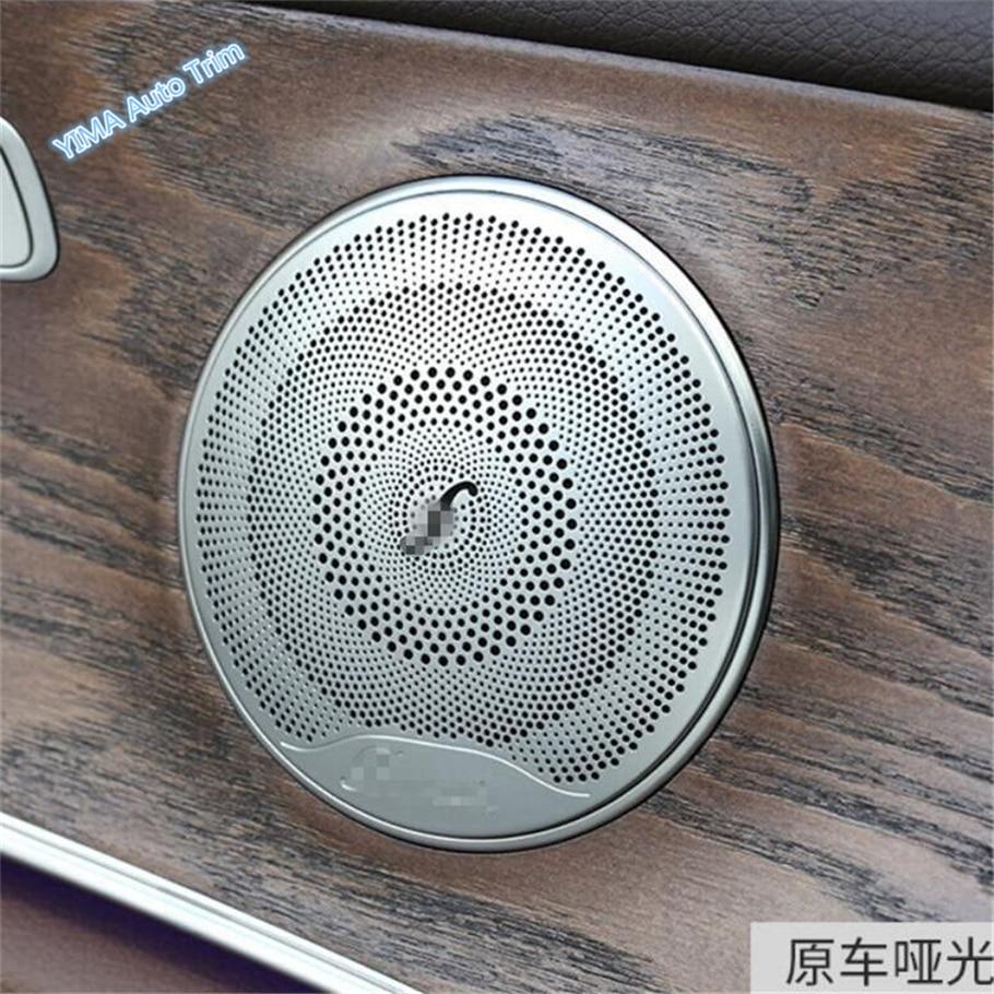 ABS Chrome Interior Car Door Speaker Sound Cover Trim for Cadillac XT5 2016-2019