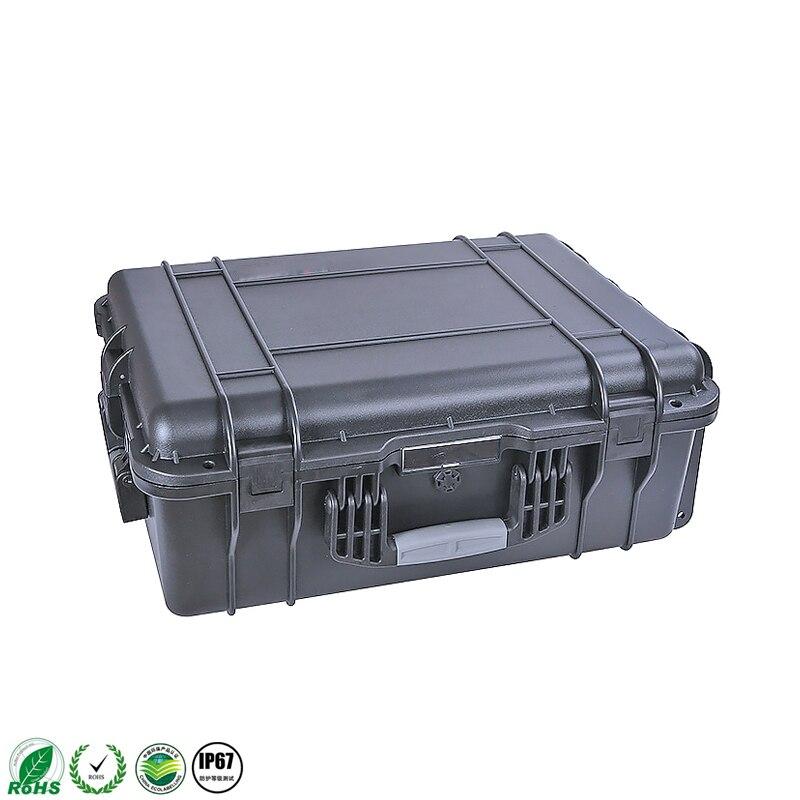 Cassa di Attrezzo di plastica cassetta degli attrezzi Ferramenteria e attrezzi kit La valigia Lo strumento attrezzature strumento di Grande scatola nera Super buona preferenziale - 2