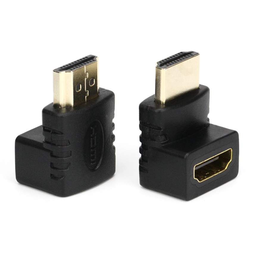 100pcs HDMI V1 4 Right Angle A Male to HDMI V1 4 B Female Gold Plated