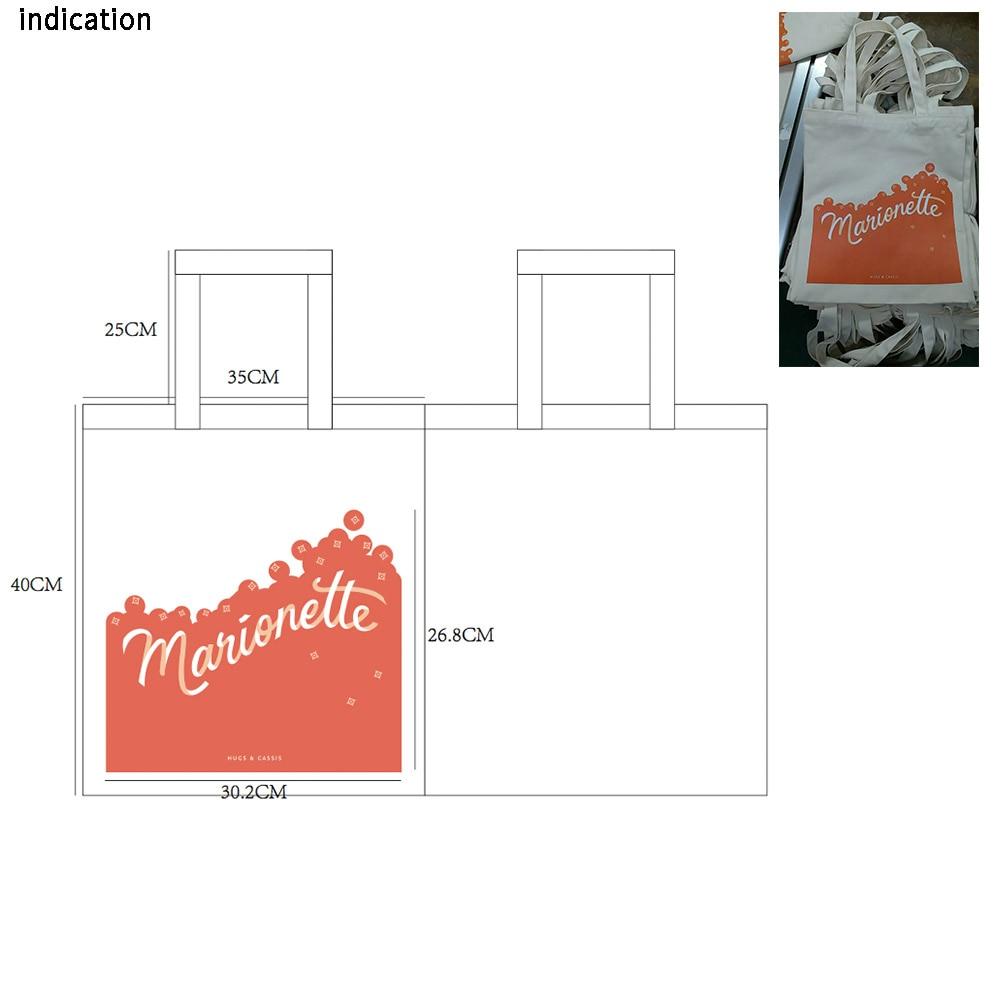 100Pcs Size 35Cm*40Cm Canvas Cotton Tote Bag Customized Logo Eco Company Advertising University Activity