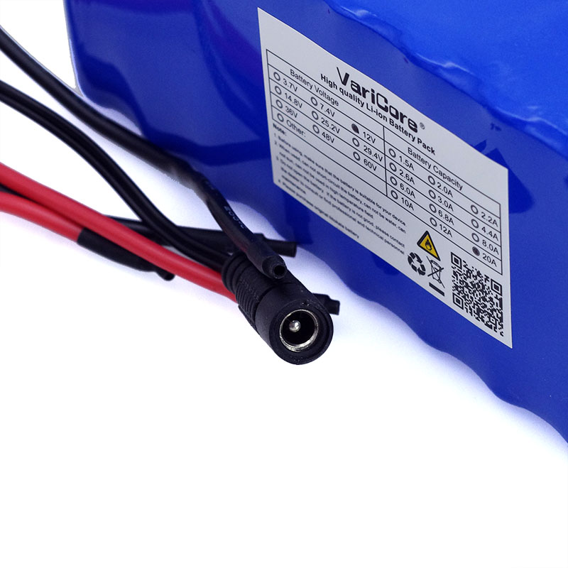 Image 5 - VariCore 12V 20Ah 18650 Lithium Battery Pack 11.1v 12.6v 20000mah Capacity Miner's Lamp 800W High power Batteries+3A Charger-in Battery Packs from Consumer Electronics
