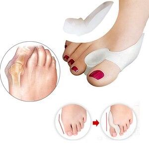Image 4 - Housse de protection des pieds en Gel de Silicone à Pointe à gros orteils, 1 paire, tampons pour chaussures de Ballet et pédicure