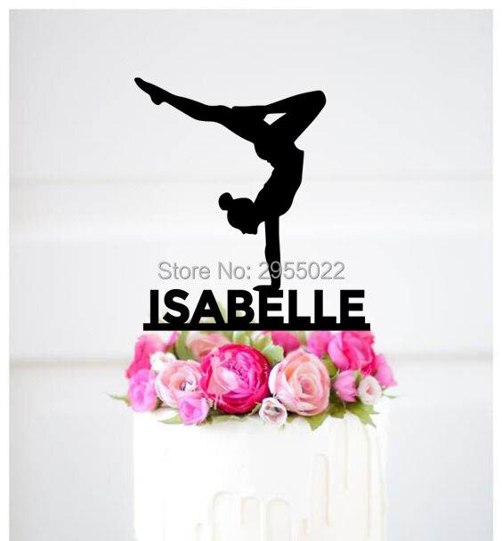 Personalized Gymnastics Cake TopperGymnastics Party Decorations Birthday Topper