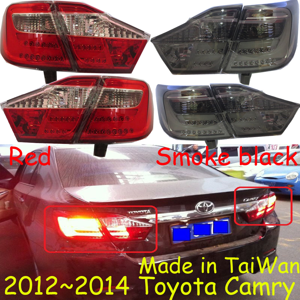 TaiWan made!car-styling,Camry Taillight,2012~2014,led,Free ship!4pcs/set,Camry fog light;car-covers,Chrome,Camry tail lamp car styling golf6 taillight 2011 2013 led free ship 4pcs golf6 fog light car covers golf7 tail lamp touareg gol golf 6