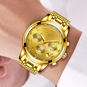 LIGE Men's Fashion Brand Multifunction Chronograph Quartz Wristwatches 5