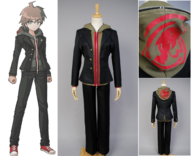 Danganronpa: Trigger Happy Havoc Makoto Naegi Uniform Male Coat Pants Anime Halloween Game Cosplay Costumes For Men Custom made