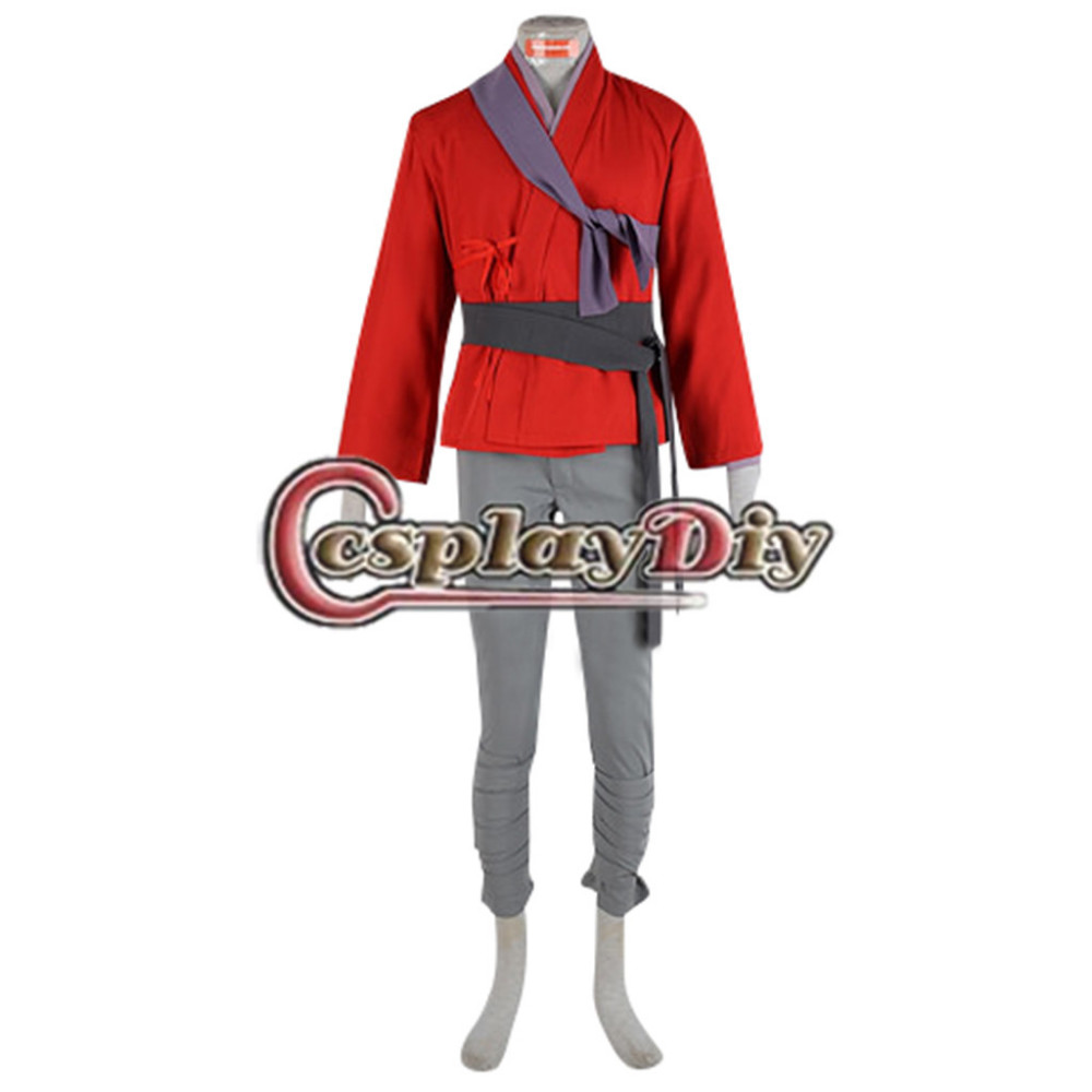 Custom Made Men s Kubo and the Two Strings Kubo Red Uniform Costume Cosplay for Carnival