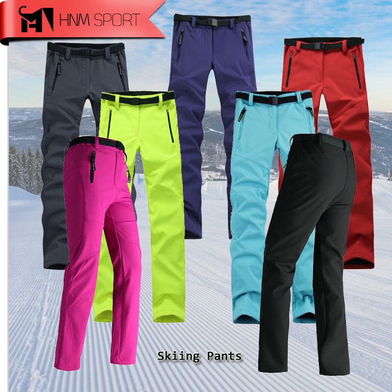 Pants Skiing-Trousers Softshell Waterproof Women Thick Warm Update Fleece Hiking Fishing