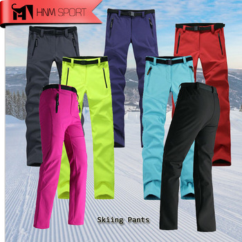 Women Thick Warm Fleece Softshell Pants  1