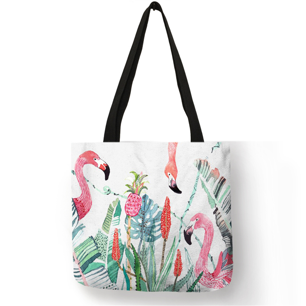 Fashion Bolsas Totes 2018 Cute Lifelike Animal Birds Swan Eco Linen Reusable Pretty Handbag School Work for Girls LadiesFashion Bolsas Totes 2018 Cute Lifelike Animal Birds Swan Eco Linen Reusable Pretty Handbag School Work for Girls Ladies