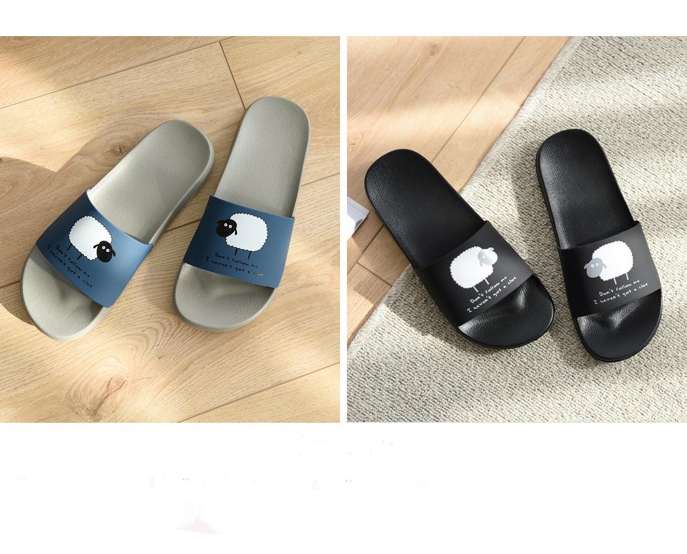 ASIFN Women Slippers EVA Men Slides Couple Cute Sheep Indoor Summer Loves Shoes Zapatos Mujer Flip Flops 35