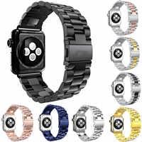Cinturino in Acciaio Inox per Apple Watch Band 42 millimetri 38 millimetri 44 millimetri 40 millimetri di Collegamento Del Braccialetto Cinturino per iWatch 5 4 3 2 1 in metallo Wristband