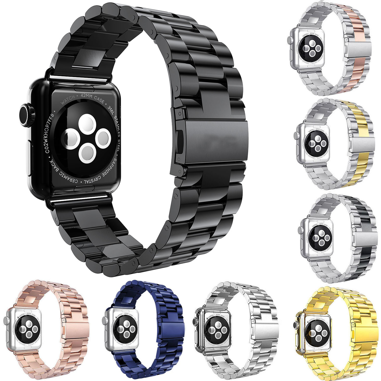 Correa de acero inoxidable para Apple Watch Band 42mm 38mm 44mm 40mm enlace pulsera correa para iWatch 4 3 2 1 pulsera de Metal