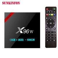 20 Pçs/lote S905W X96W Android 7.1 Caixa De TV Amlogic 1G 8G Quad Core WIFI HDMI 4 K HD Inteligente Set Top Box Media Player PK A95X X96 H96