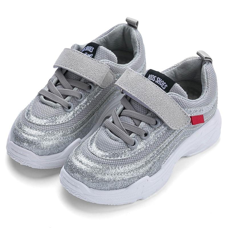 все цены на Fashion Boys Autumn Sneaker Hook & Loop Comfortable Children Sport Tennis Shoes For Boys Breathable Kids Casual Shoes Boys Gray онлайн