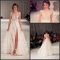 Sexy Custom made Sleeveless Long Evening Dresses 2015 Vestido Beaded Custom-made Tulle Backless Evening Gown