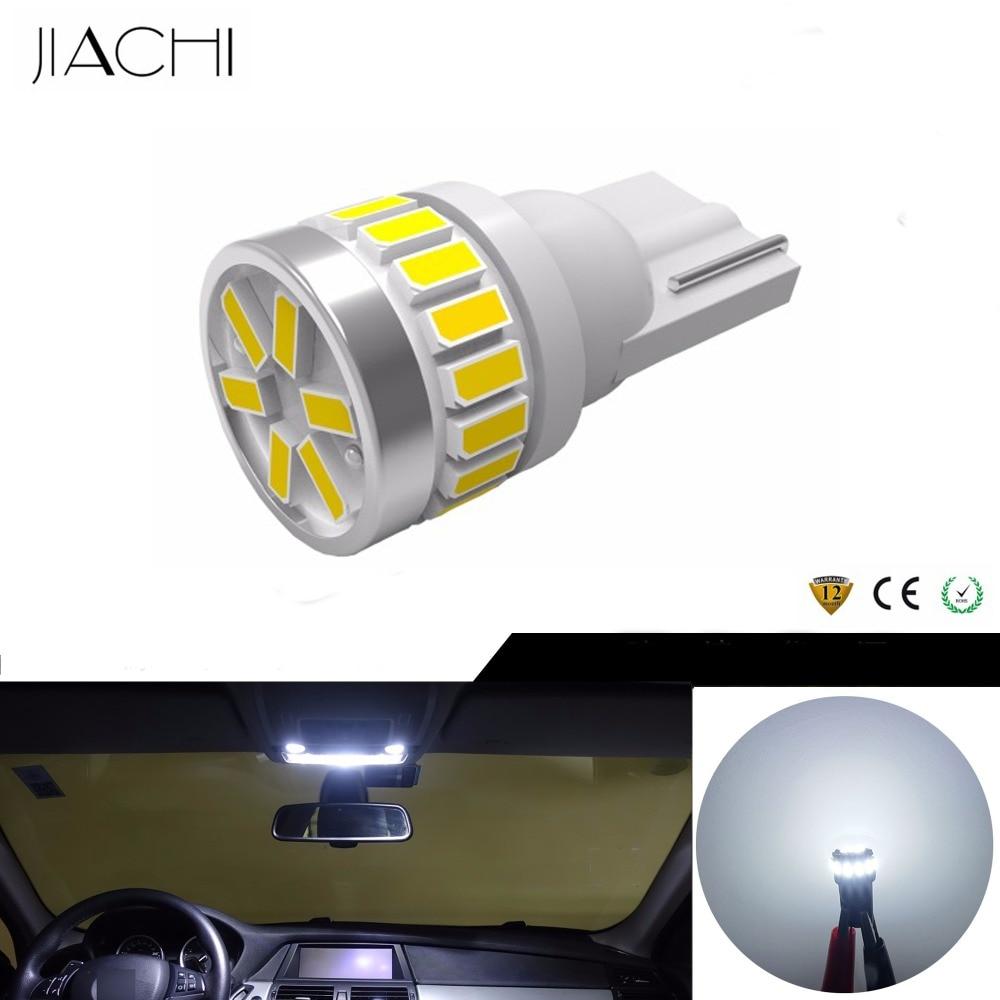 JIACHI 100PCS Lot T10 W5W 194 LED Bulbs 3014SMD 24LEDs For Car Interior Light Map Dome