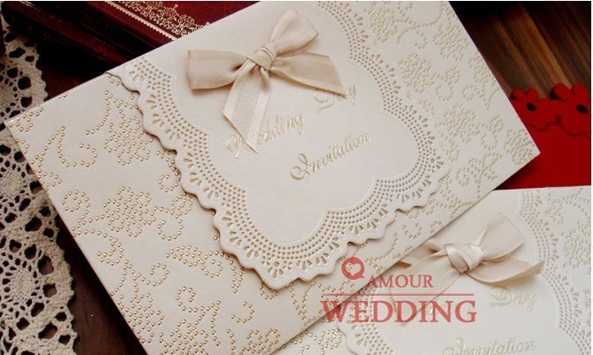 Us 99 36 8 Off Wedding Invitation Card Customised Printing Luxury Marriage Paper Card Laser Cut Type Cards With A Ribbon 100pcs Lot In Cards