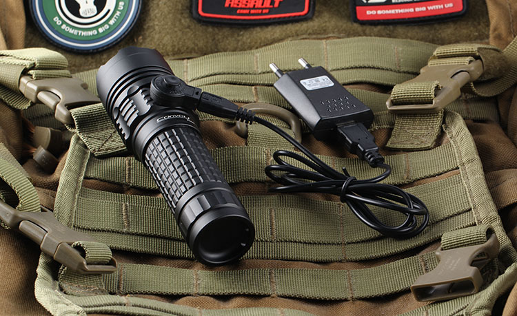 Convoy BD06 CREE LED XML2 Flashlight 3800Lumen Powerful LED Torch Rechargeable Tactical Flashlight Lanterna Flash Lamp Light 3t6 led flashlight cree xml 5mode lamp waterproof lanterna tactical denfense torch with rechargeable 3x18650 battery and charger