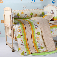 5Pcs/Set Baby Bed Bumper Cotton/Plush Baby Bedding for Newborns Toddle Children's Bed Around Linen Cot Crib Bumpers Baby