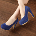 11cm Pumps 2015 Women's shoes autumn thick heel shoes ol high-heeled shoes female the trend of ultra high heels female shoes