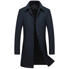 2018 New Arrived Winter Men Long Wool Overcoat Mens Slim Fit Thick Warm Business Casual Jackets Trench Coat men's coat M-XXXL