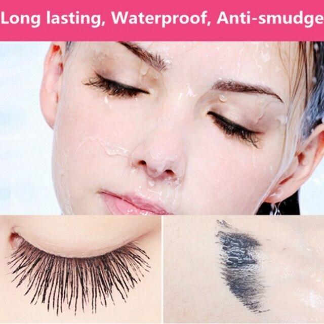 4D Smudge-proof Mascara Waterproof Eyelash Fiber Black Ink Rimel Curling Eye Lash lengthening Makeup Extension Volume Mascara 3