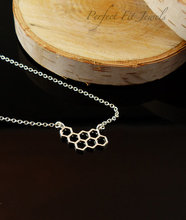 hollow Honey Comb Bee Hive Necklace Cute Honeycomb Beehive geometric Hexagon pendant charm chain lover lucky jewelry