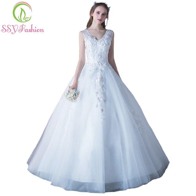 SSYFashion 2017 Neue Süße Braut Prinzessin Hochzeitskleid Süße V ...