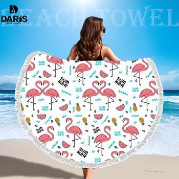 SDARISB Microfiber Fabric Bath Towel Round Beach Towel Wholesalers Large Towel Wholesalers Watermelon Lemon Vacation Products 6