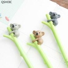 30 ピース/ロットかわいいコアラゲルペン 0.5 ミリメートル黒インクペン署名書き込み韓国卸売オフィスアクセサリー学用品