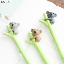 30 sztuk/partia Kawaii Koala długopis żelowy 0.5mm czarny atrament długopisy podpis pisanie koreański hurtownie akcesoria biurowe szkolne