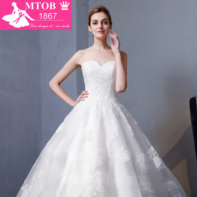 Image 5 - New Design A Line Lace Wedding Dresses 2018 Sweetheart backless Elegant Sexy Vintage Wedding Gowns China Online Shop MTOB1817Wedding Dresses   -