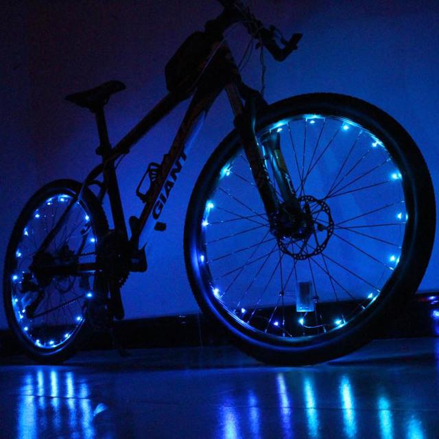 1pcs 20 LED Colorful Shining Waterproof Bicycle Lights Bike Wheel Spoke Lights Night Cycling Safety Bicicleta Bisiklet Aksesuar