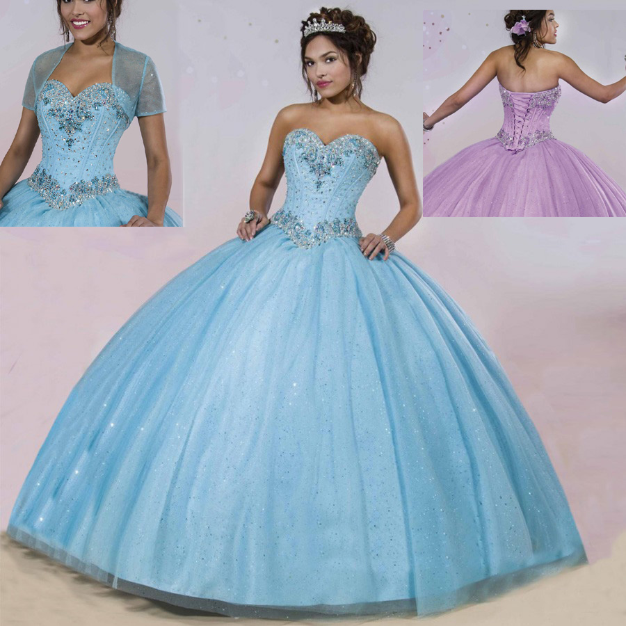 Hote sale Color Accented Sweetheart Ball Gown Applique Crystal ...