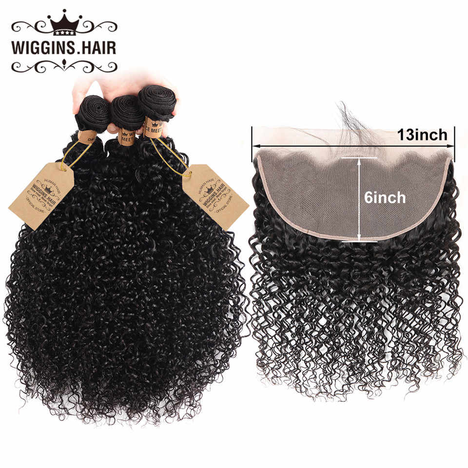 Curly Bundles With Closure Frontal 13x6 Lace Frontal Wiggins Hair Brazilian Hair Weave Bundles With Closure Remy Human Hair