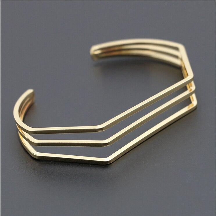 Cool irregular geometry shape new models dubai cuff gold bangles ...