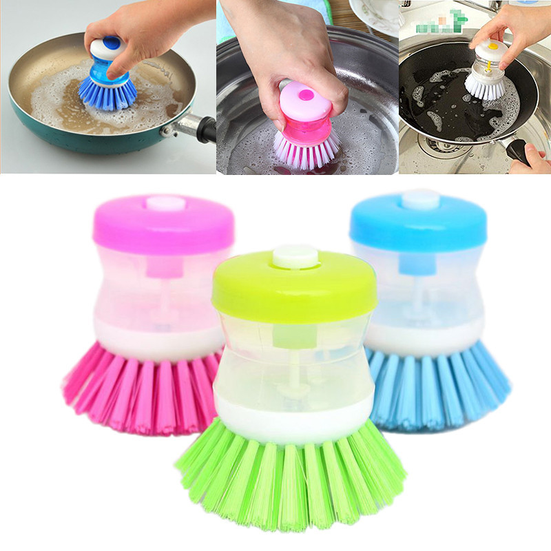 Hydraulic washing pot multicolor kitchen gadgets Wash Tool Pan Dish Bowl brush Scrubber font b glove