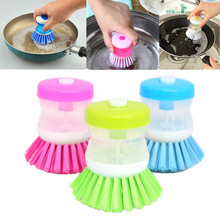Hydraulic washing pot multicolor kitchen gadgets Wash Tool Pan Dish Bowl brush Scrubber glove Cleaning brushes