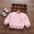 Детская одежда зимой ребенок плюс бархат рубашка ребенок утолщение тепловой пуловеры толстовка верхняя одежда топ 2016 новое пальто