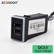 XCGaoon QC3.0 Quickcharge شاحن سيارة مزدوجة USB الهاتف PDA DVR قابس مهايئ والتشغيل كابل لتويوتا(China)