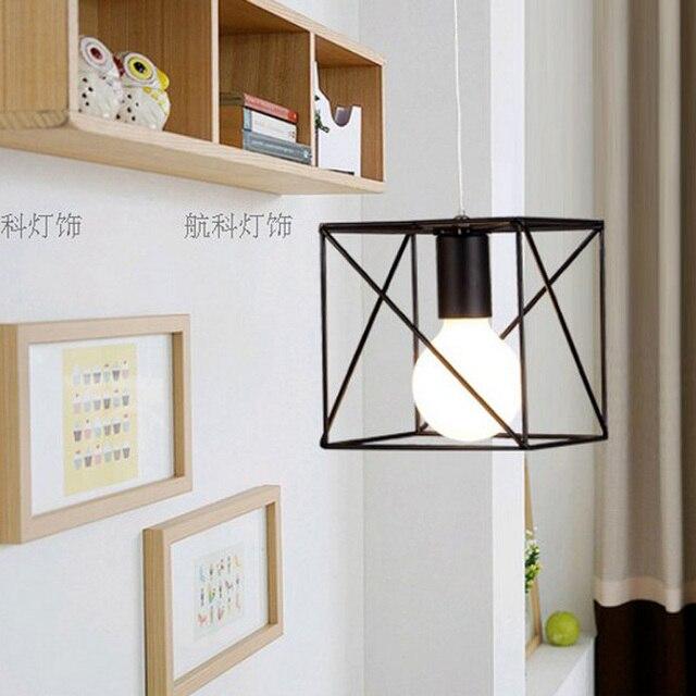 Edison vintage luz pendiente moderna rústico jaula de alambre ...