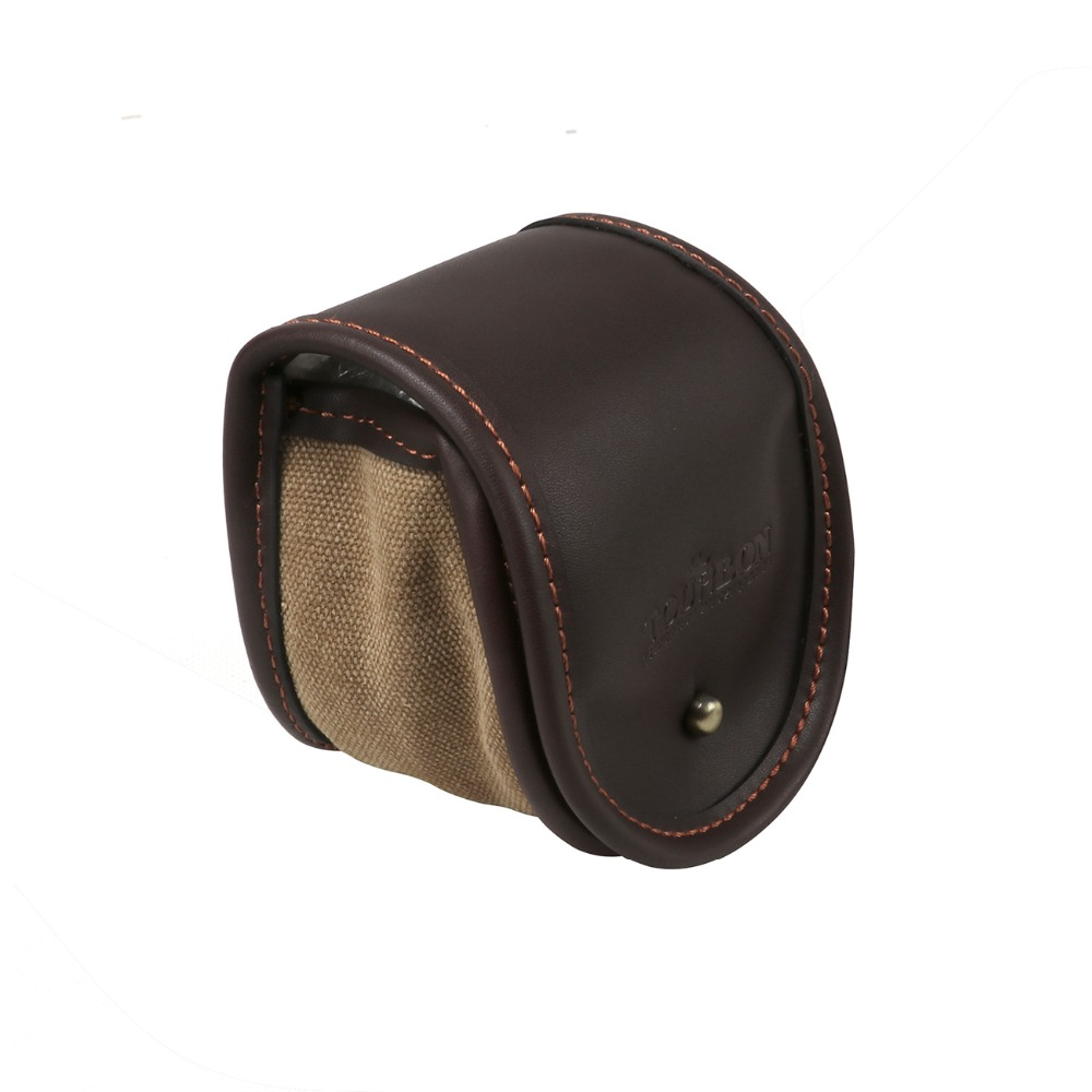 Tourbon Fishing Soft Spinning Reel Leather Box Spinning Case Storage Cover