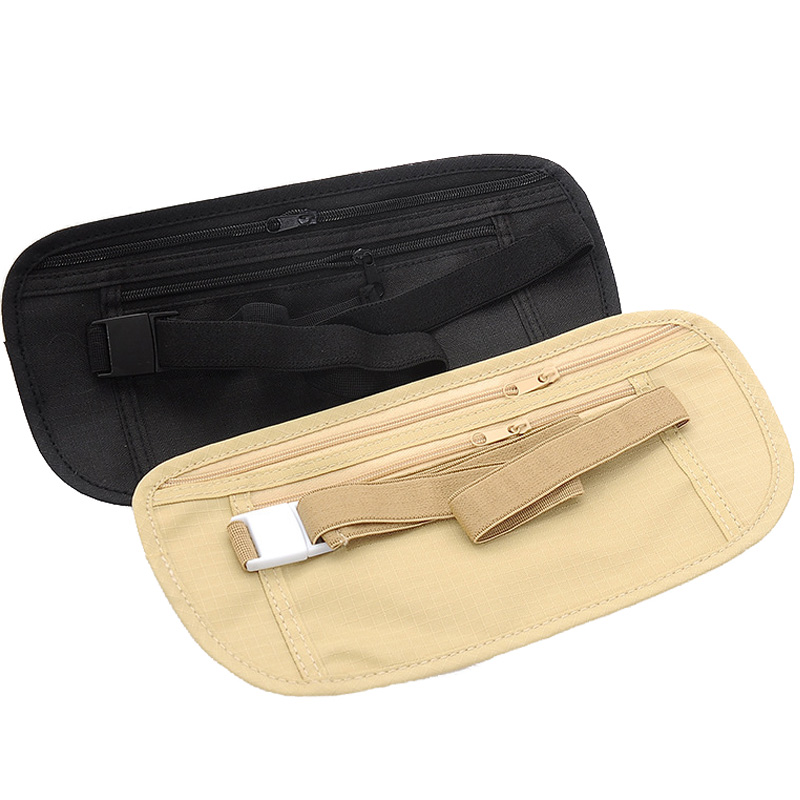 Woman Men Running Waist Pouch Belt Sport Belt Mobile Phone Travel Pack Business Portable Bag Card Paperwork Pocket