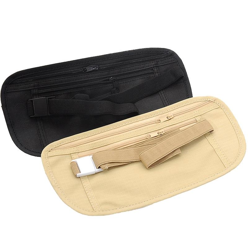 Woman Men Running Waist Pouch Belt Sport Belt Mobile Phone Travel Pack Business Portable Bag Card Paperwork Pocket
