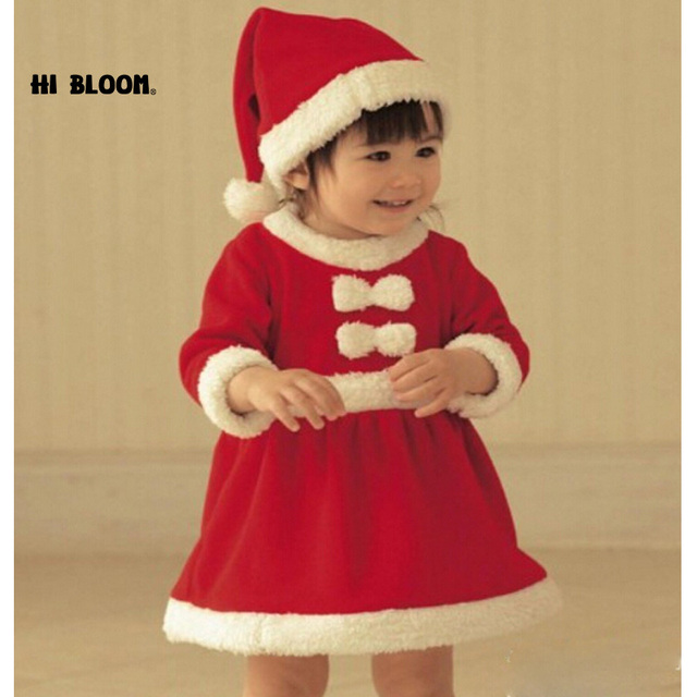 47c3cf1da Brand Children Christmas Clothing Baby Dresses Christmas Santa Claus Costume  For Baby Girl Children Dress roupas infantis menina