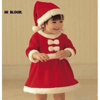 Marke Kinder Kleidung Baby Kleider Weihnachten Santa Claus Kostüm Für Baby Kinder Kleid roupas infantis menina