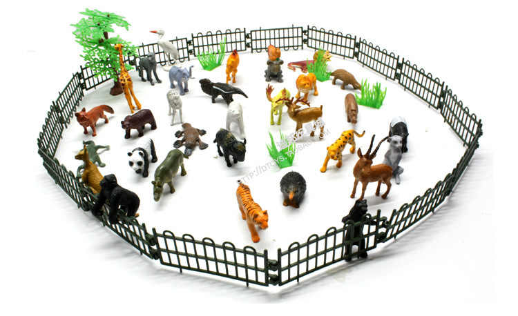 10X Farm Animals Fence Toys Military Fence Simulation Model Toy for Child JF
