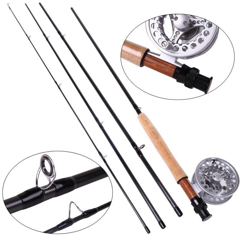 Sougayialng 8.86FT #5/6 canne à pêche à la mouche Set 2.7 M canne à mouche et moulinet à la mouche Combo avec ligne de leurre de pêche boîte ensemble matériel de canne à pêche - 4