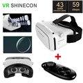 2016 VR SHINECON маску белый 3D Очки google картон HD VR Очки + Bluetooth Для Беспроводной геймпад